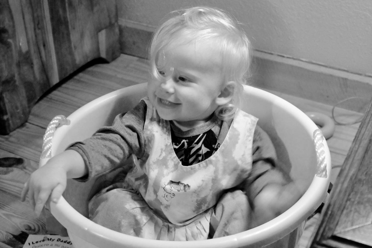 Baby in a Bucket: WataugaRiver