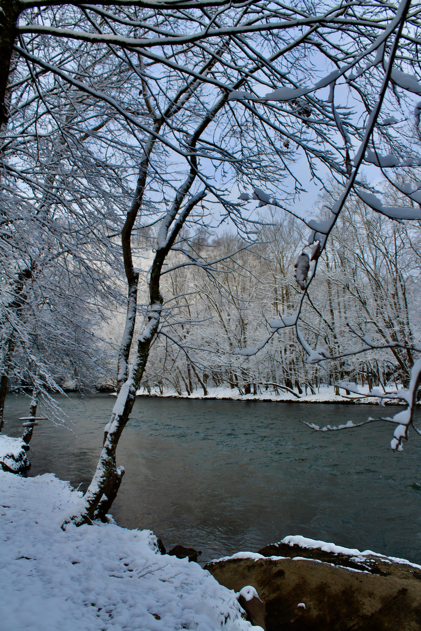 Watagua River in the Snow