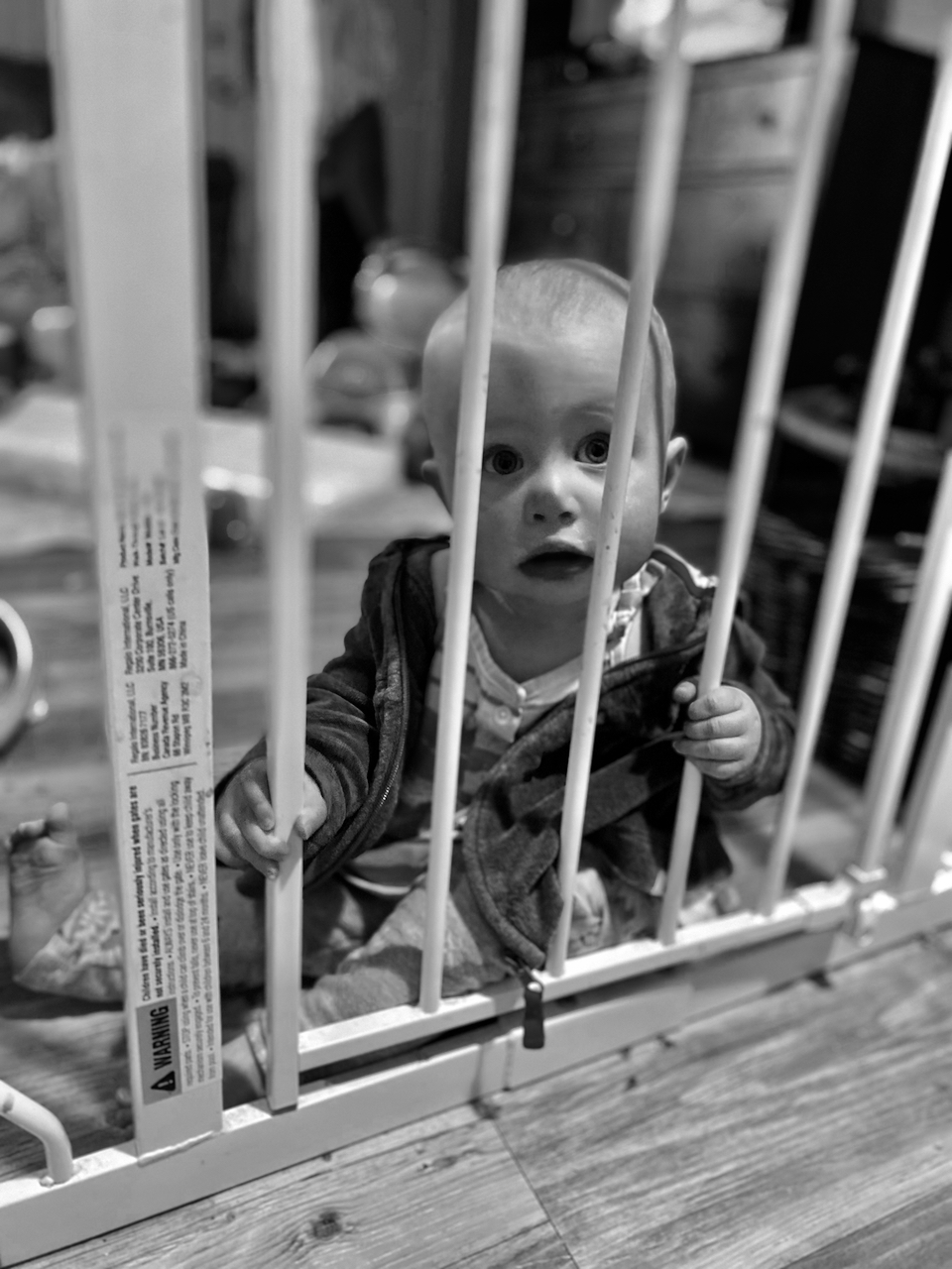 Toddler Behind Bars