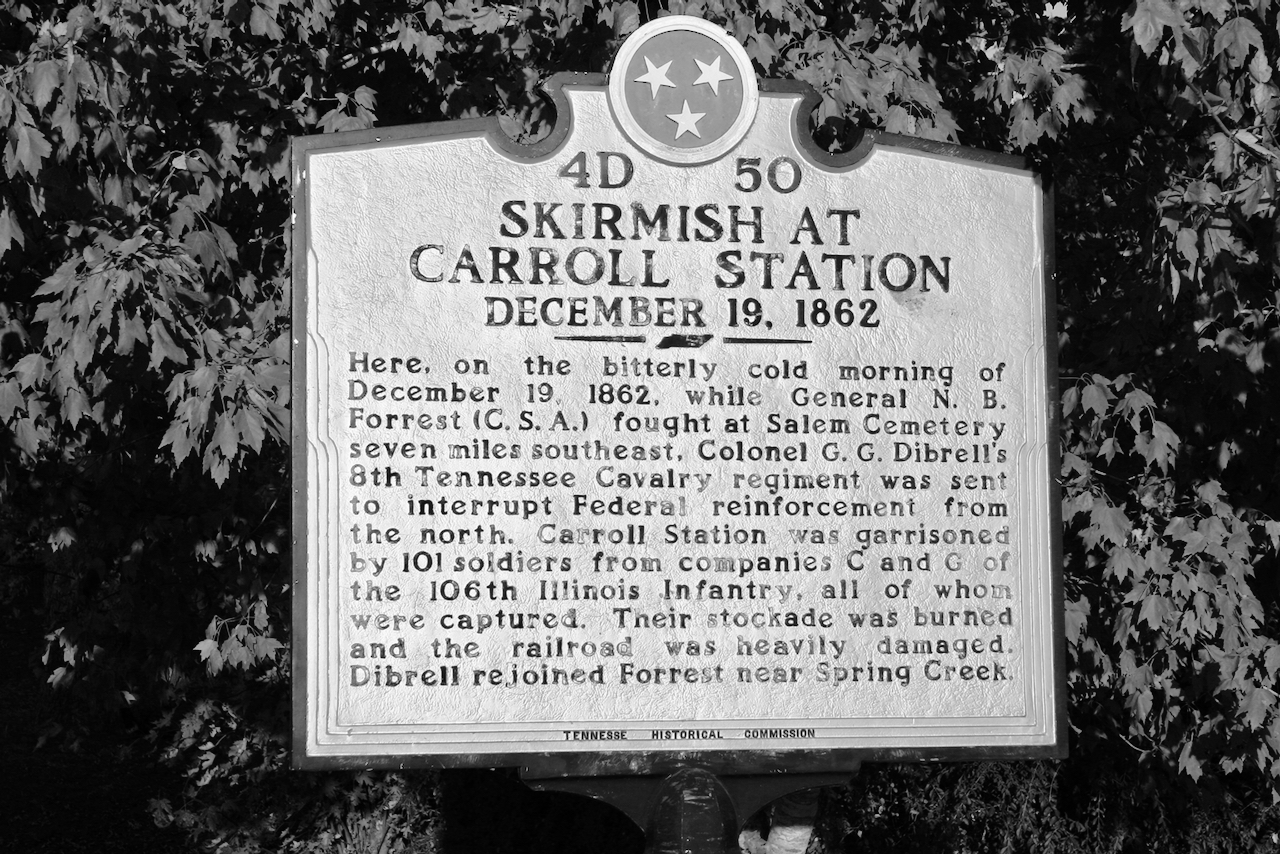 Monochrome Monday — Skirmish at Carroll Station