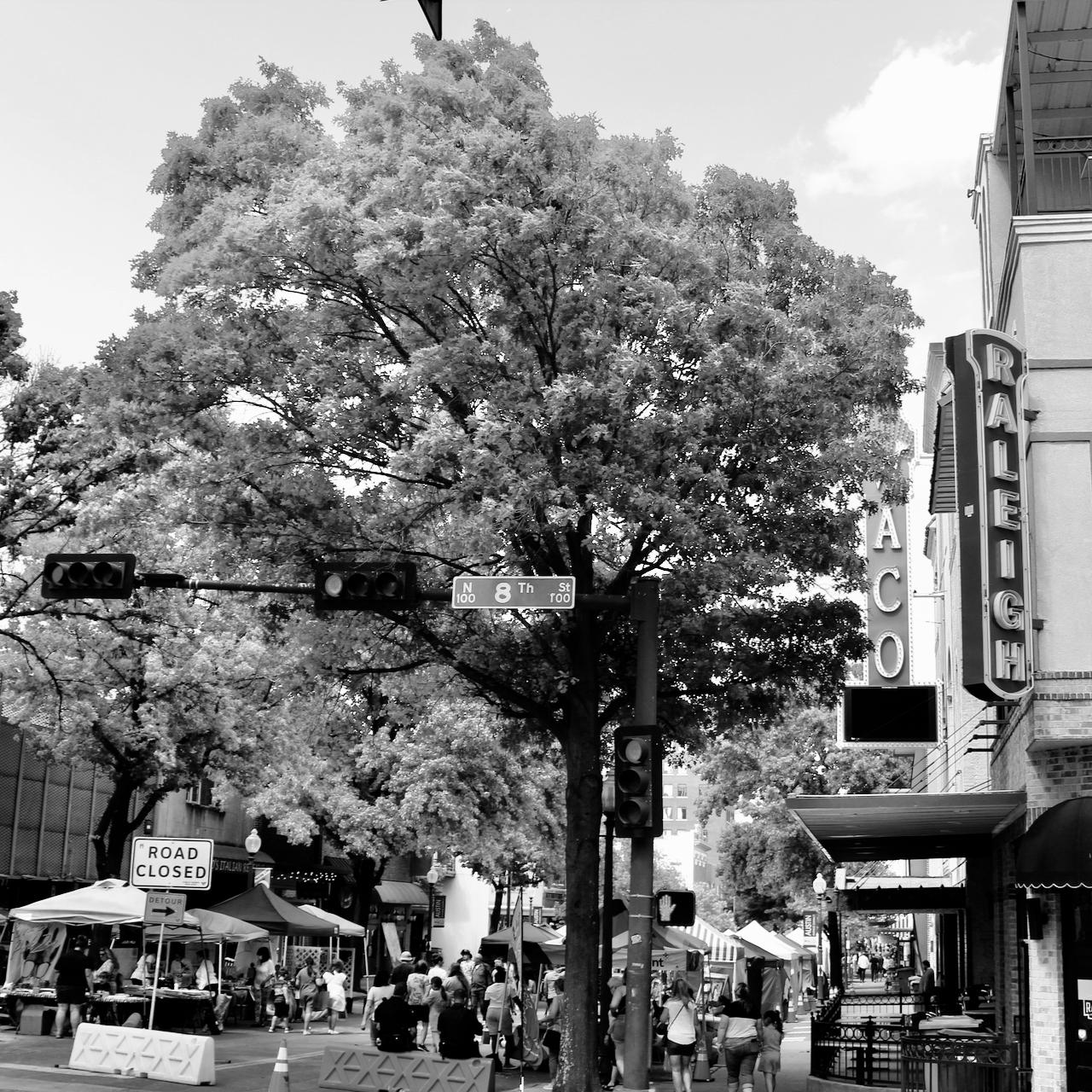 Mid-Week Monochrome #58: Corner of 8th Street and AustinAvenue